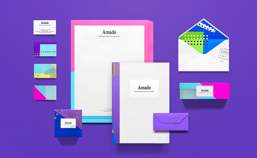 Colourful stationery for Amado by Anagrama | Viva Mexico!