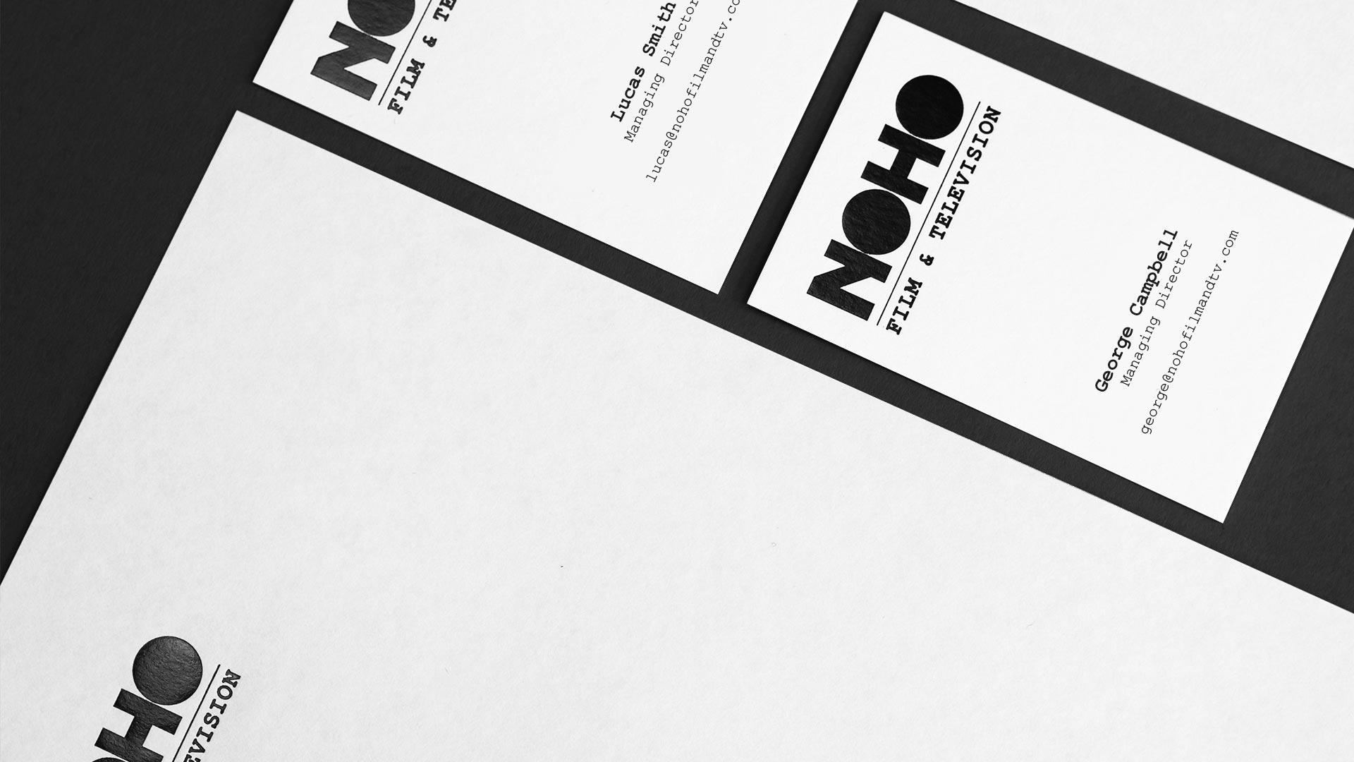 Corporate stationery | Branding & Web Design | Noho Film & Television