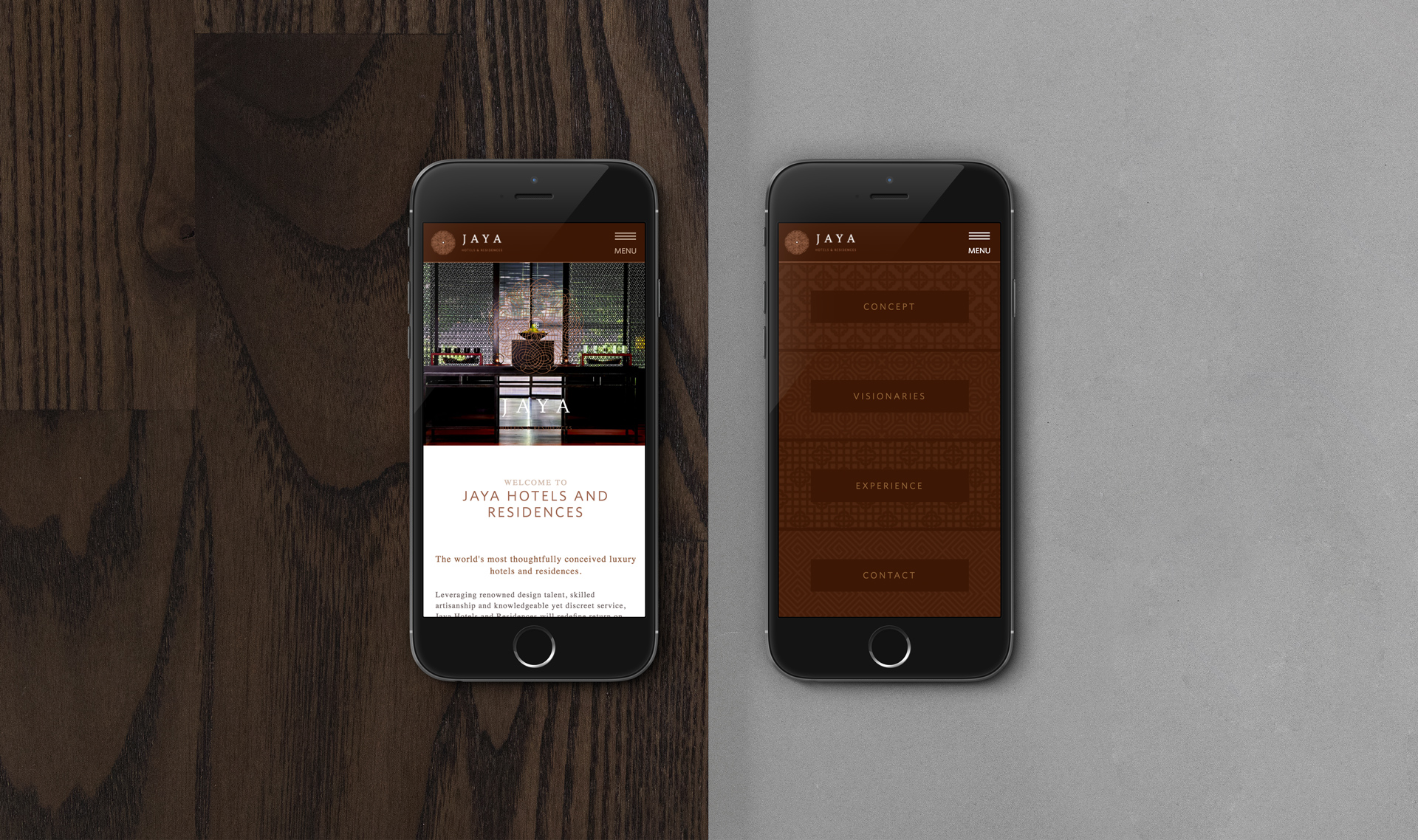 Website Design and Development | Jaya Hotels and Resorts | Mobile Design Preview