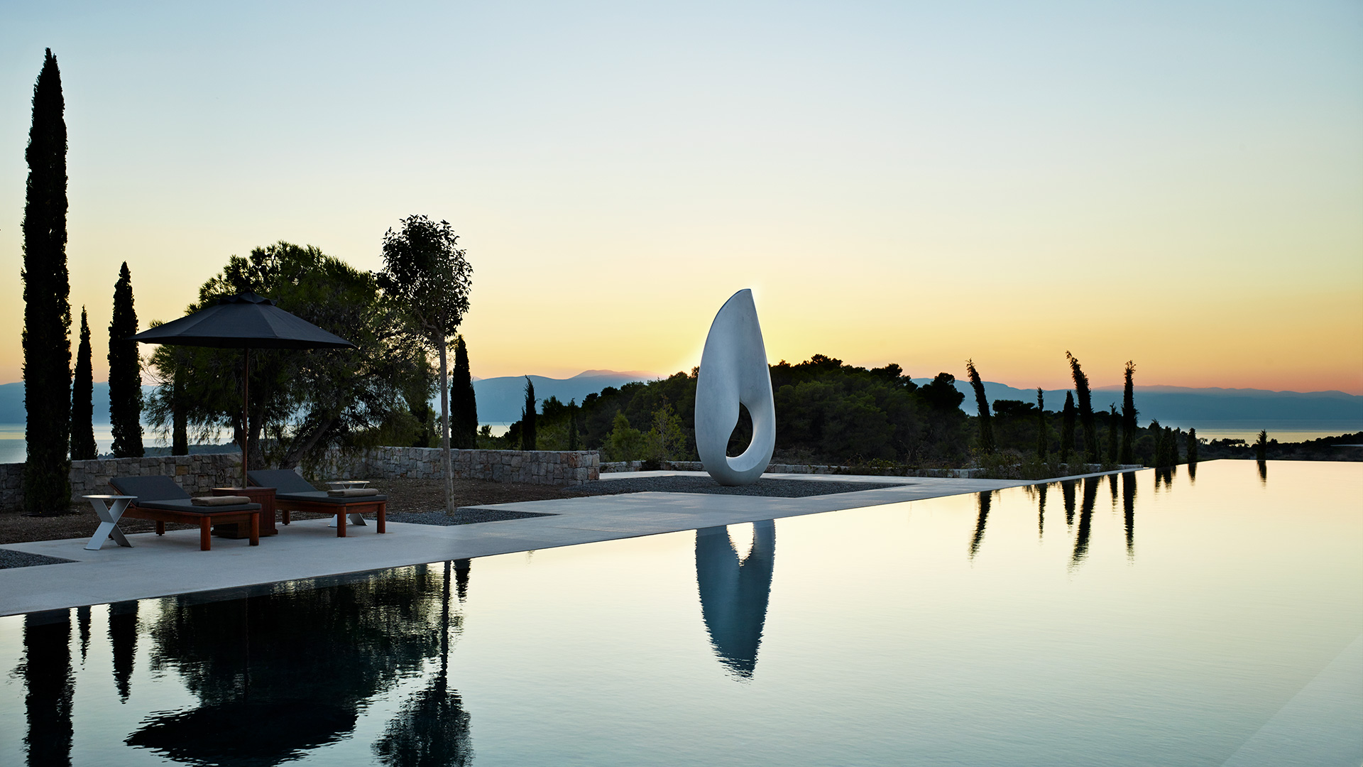 Luxury Real Estate Marketing | Amanzoe Villas | Amanzoe Case Study Pool Shot