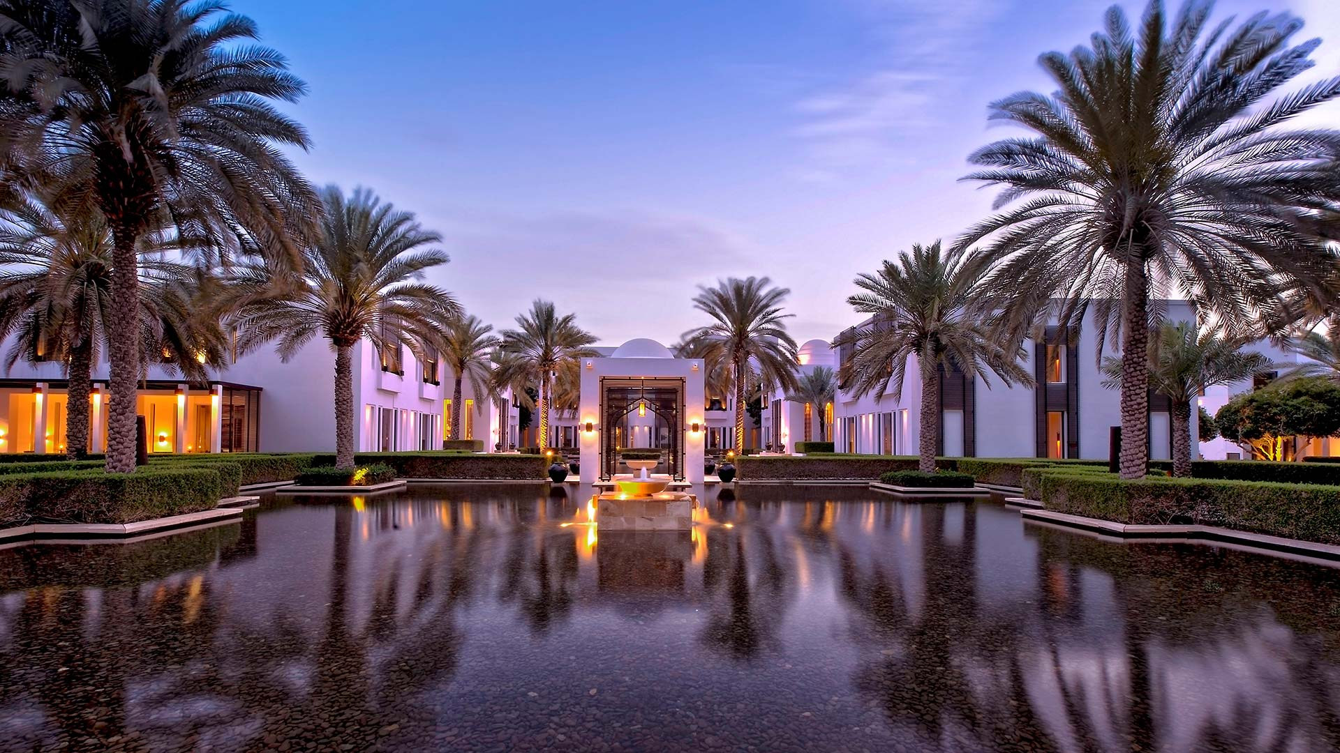 The Chedi Muscat at dusk | Luxury hotel marketing | General Hotel Management