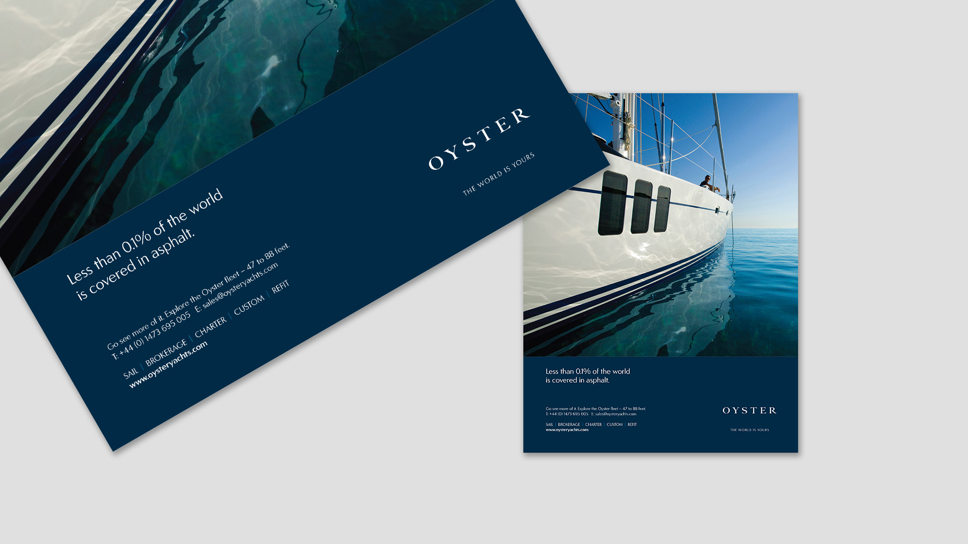 Print advertising campaign | Luxury yacht marketing | Oyster Yachts