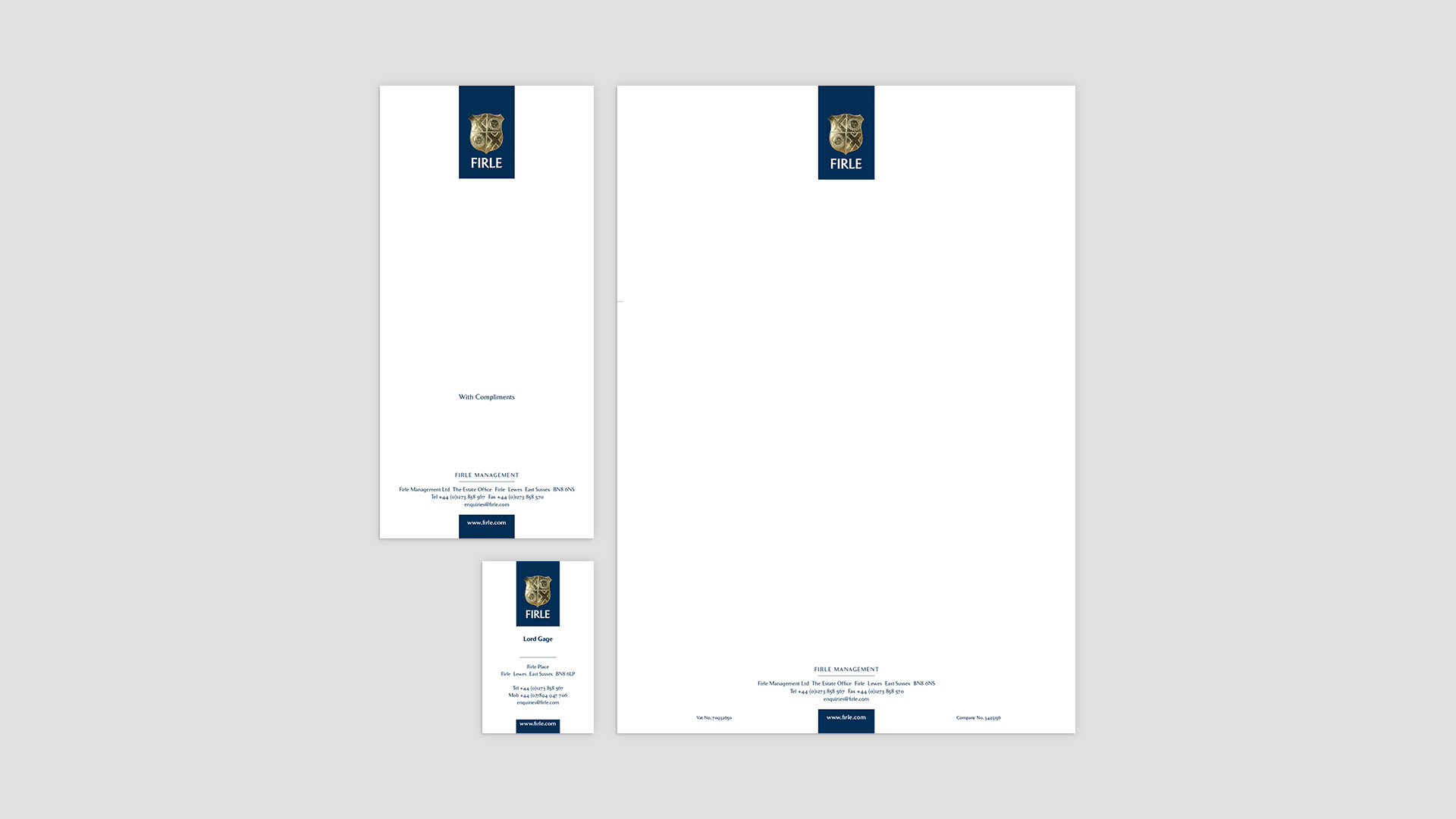Real Estate Branding | Firle Estate | Stationary