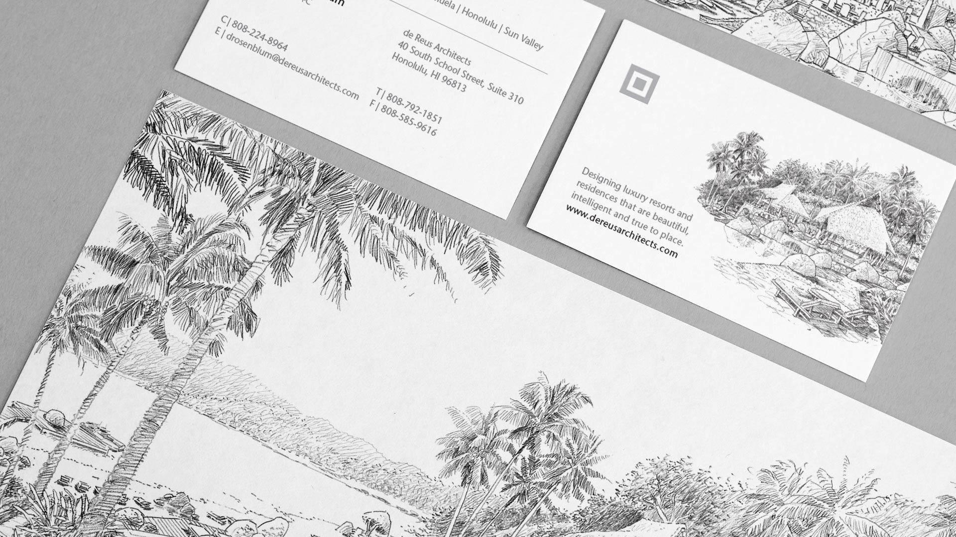 Corporate stationery, letterhead and business cards | Branding | de Reus Architects