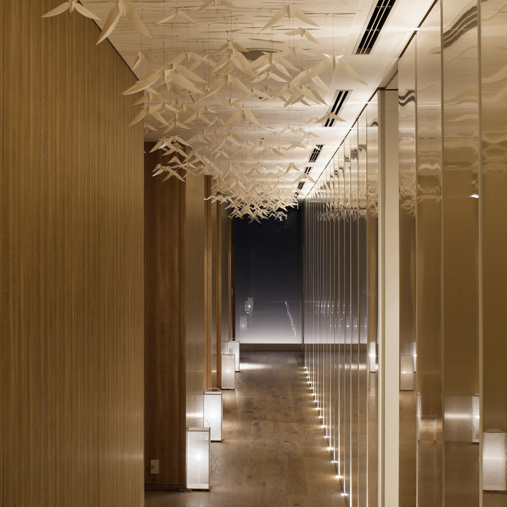 Hallway of the evianSpa | SEM | Palace Hotel Tokyo