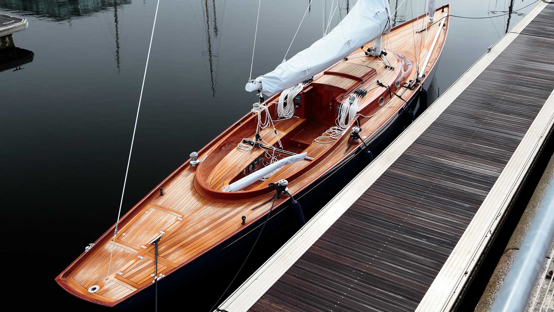 Bespoke luxury yacht moored at dock | Luxury yacht marketing | Spirit Yachts