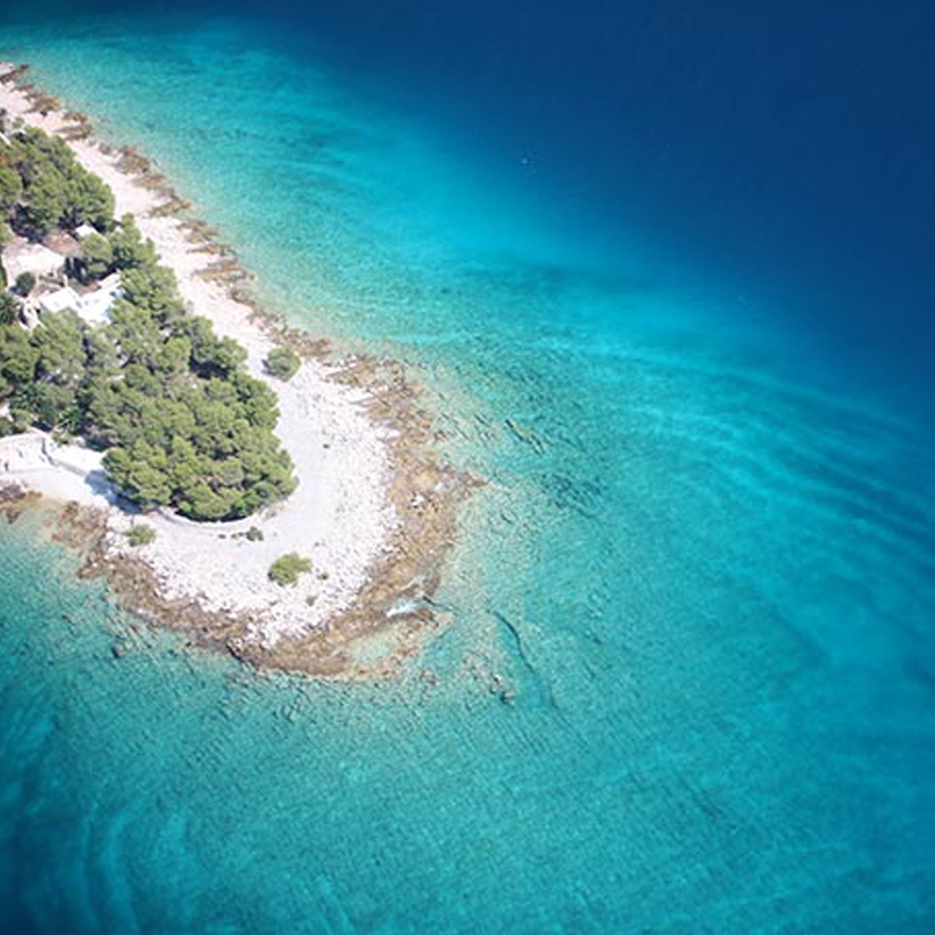 Aerial photograph of Hvar island | Luxury Resort Branding | St Juraj