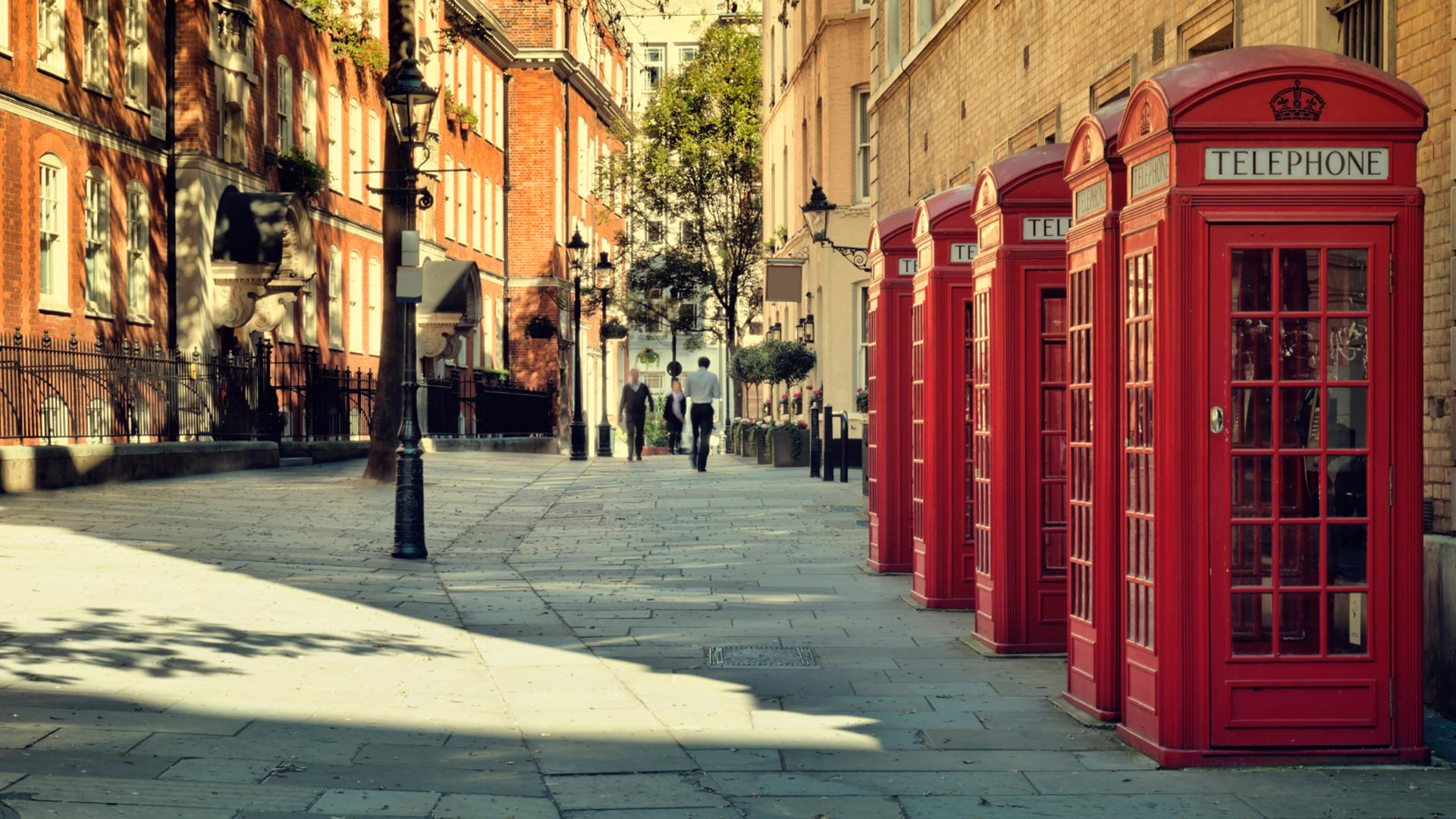 London street view of red phone boxes | Branding & Web Design | Noho Film & Television