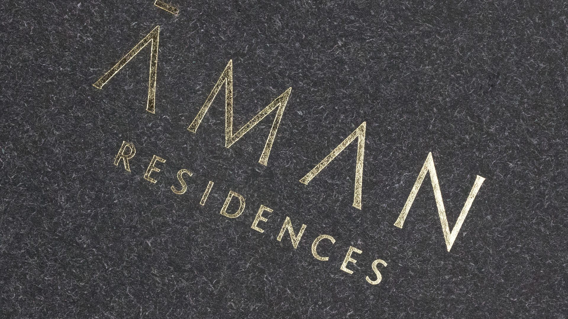 Print Marketing | Aman Residences | Residences Brochures Close-up Black