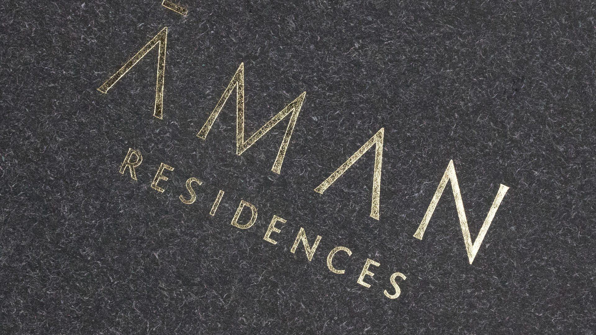 Print Marketing | Aman Residences | Residences Brochures Close-up Black