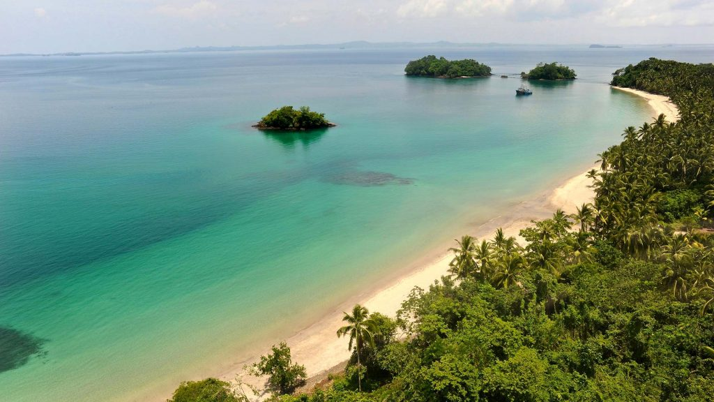 Aerial view of Pearl island, Panama | Luxury Resort marketing | Pearl Island