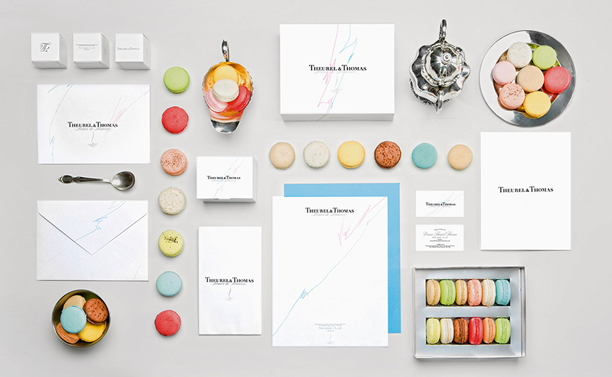 Stationery design with macarons for Theurel & Thomas by Anagrama | Viva Mexico!