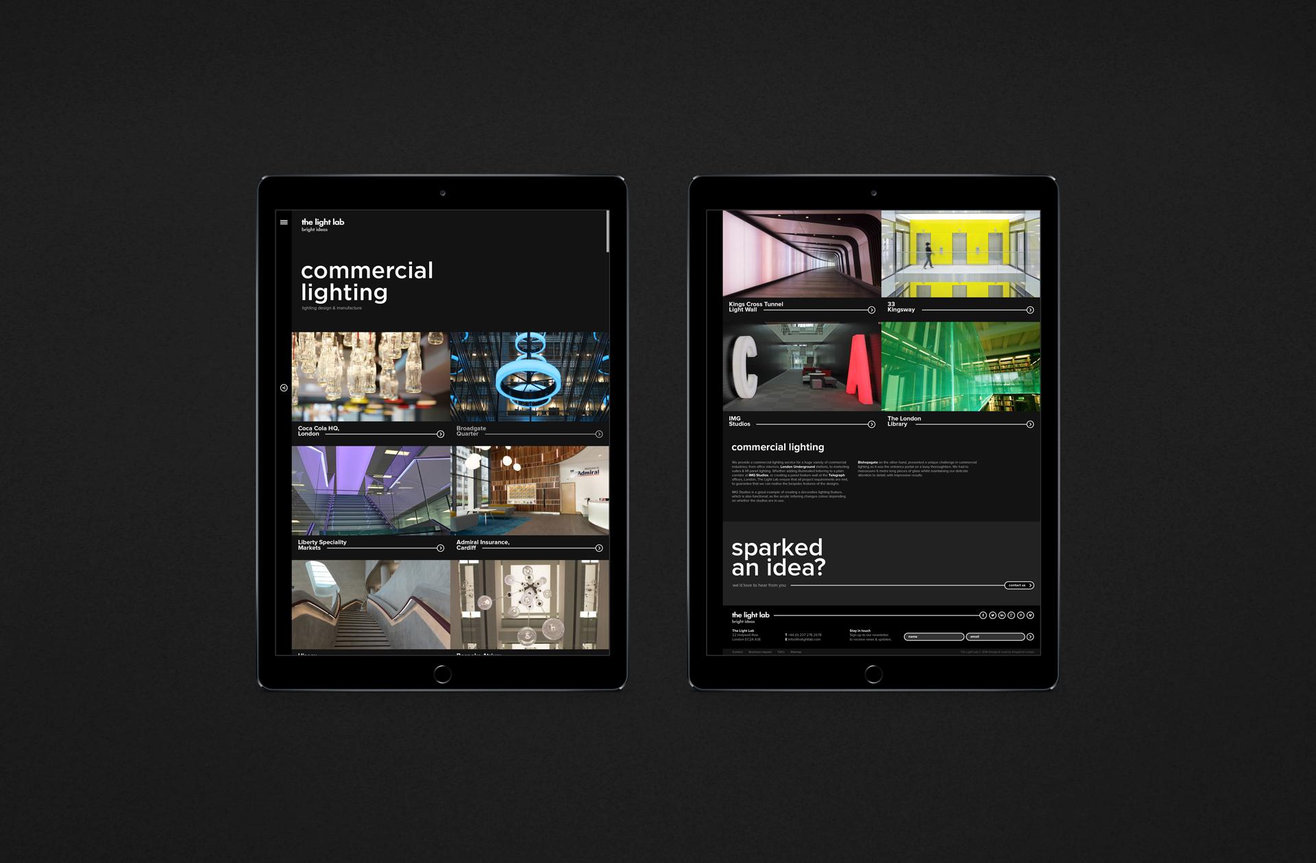 iPad responsive web design | Kingsland Linassi