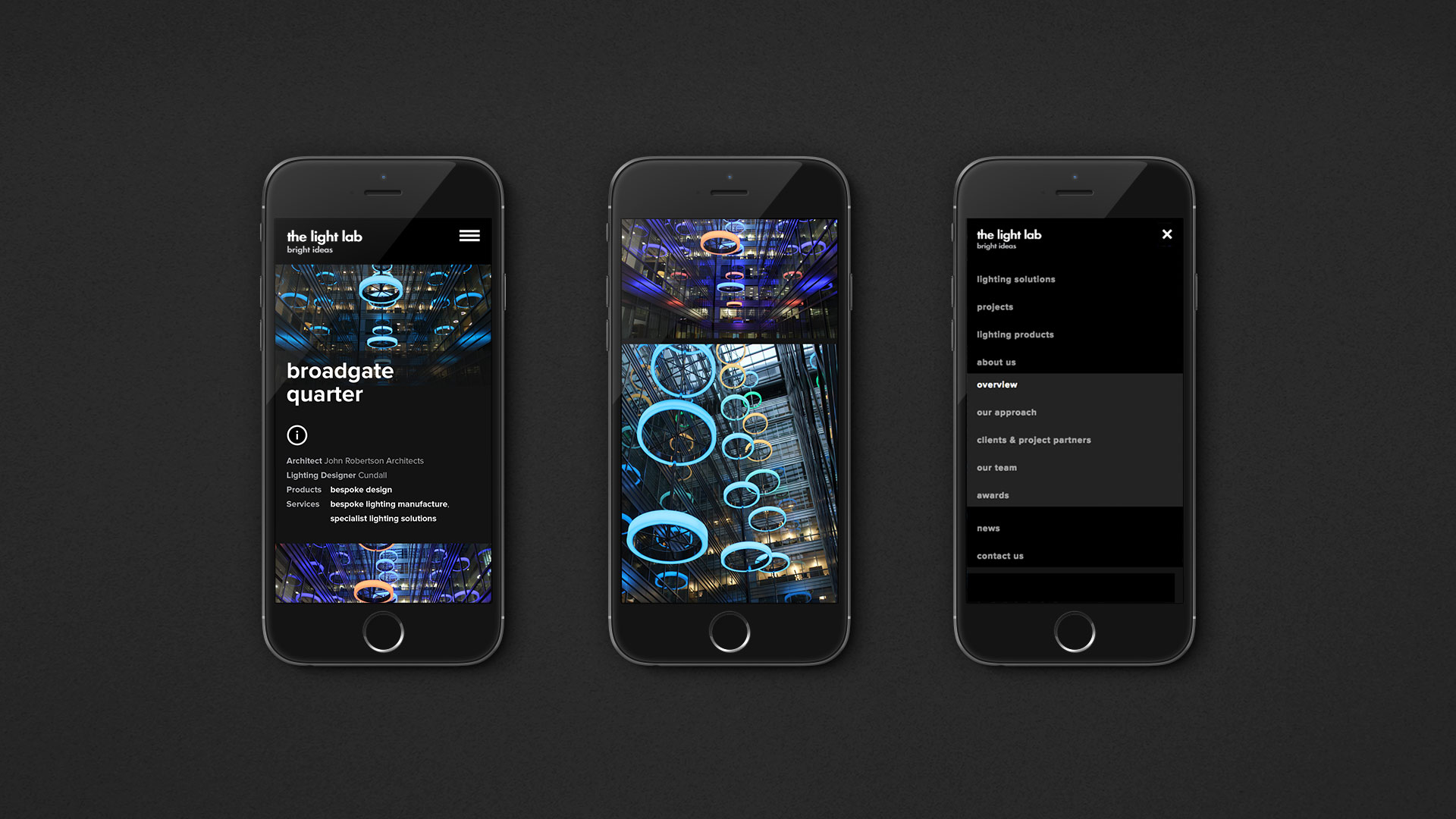 the Light Lab | iPhone Responsive Design | Kingsland Linassi
