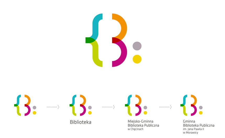 Logo for Jejkowice Public Library by Natalia Bilska | The Friday Five #2 - Library branding by Yvie Ormsby