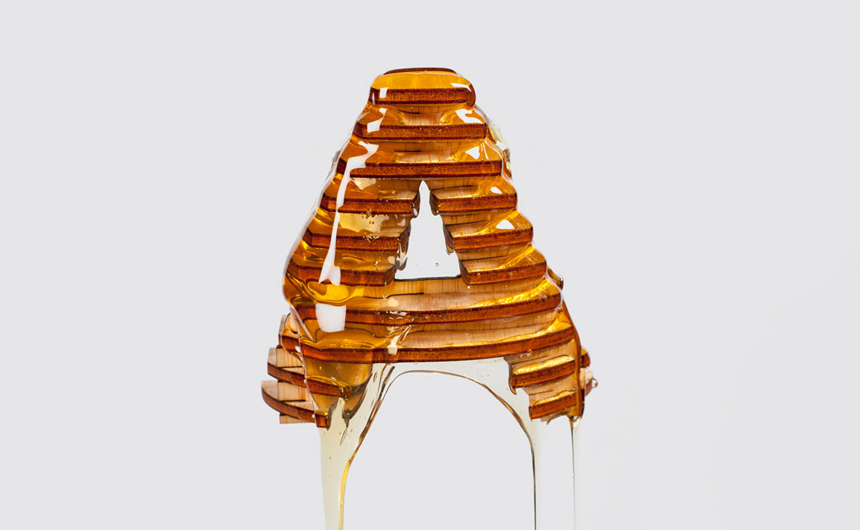 Letter A from the Delicious Typography Experiment by Franc Navarro | The Friday Five #3 - Creative & unusual typography by Yvie Ormsby