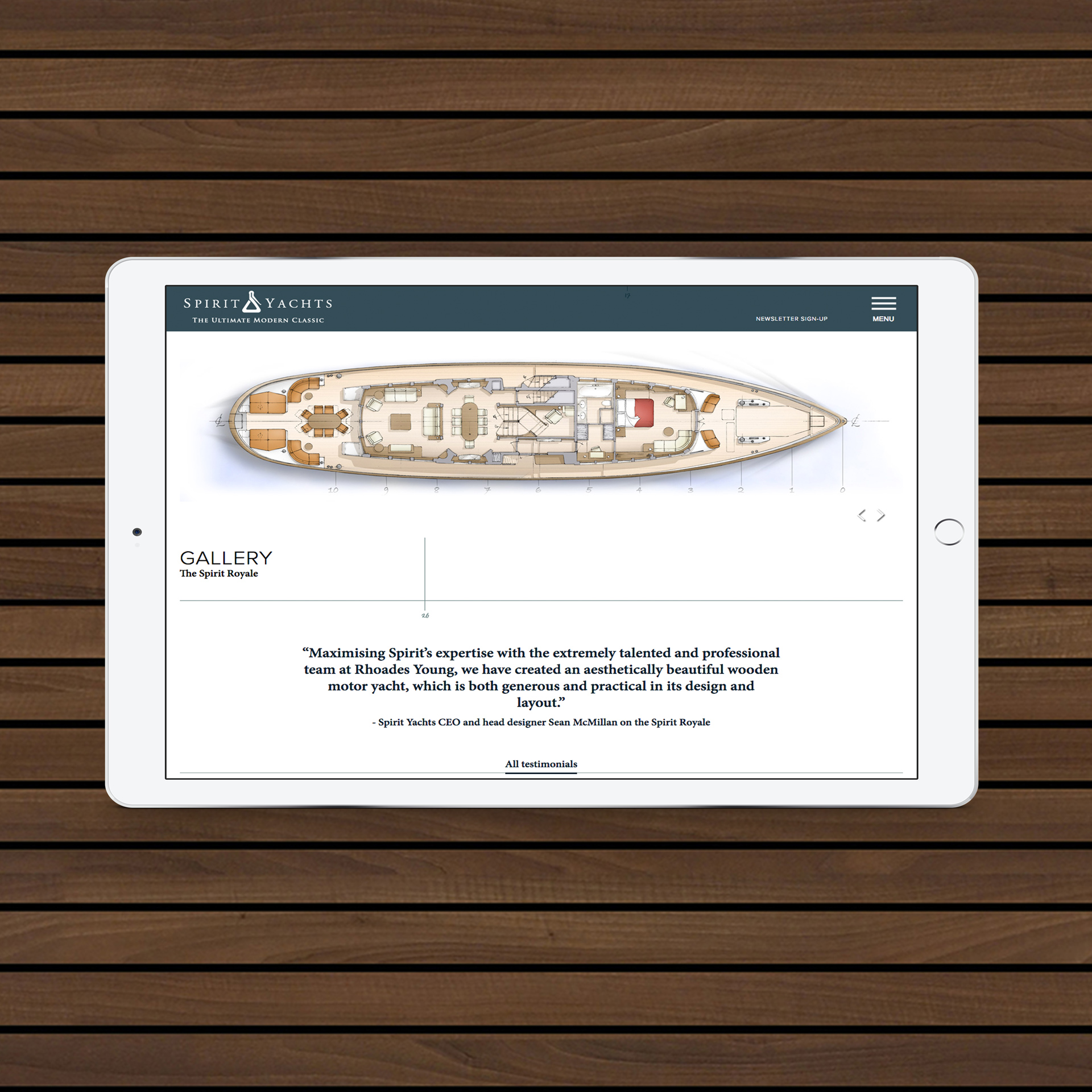 Website Design | Luxury Yacht Marketing | Spirit Yachts