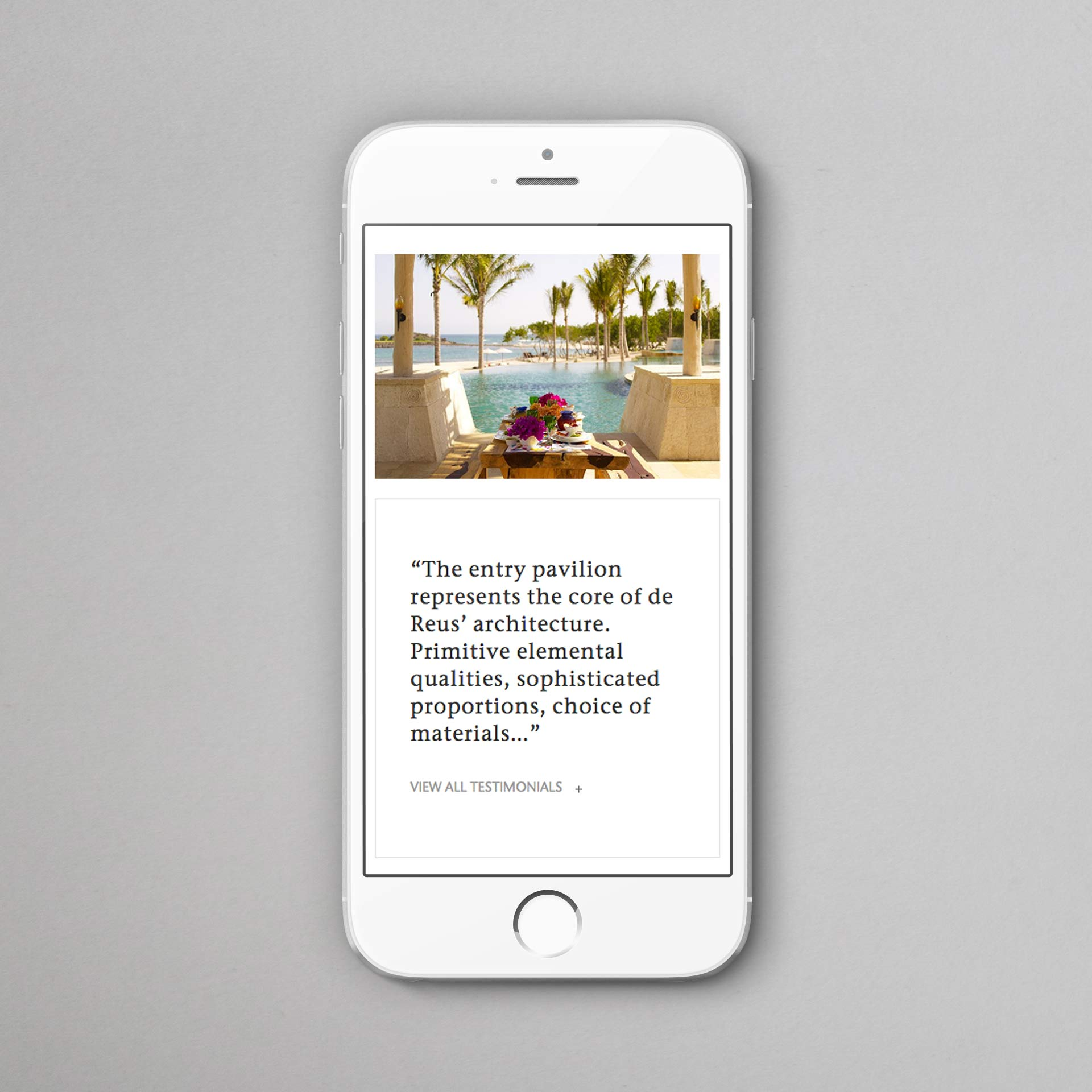 Responsive website | de Reus Architects